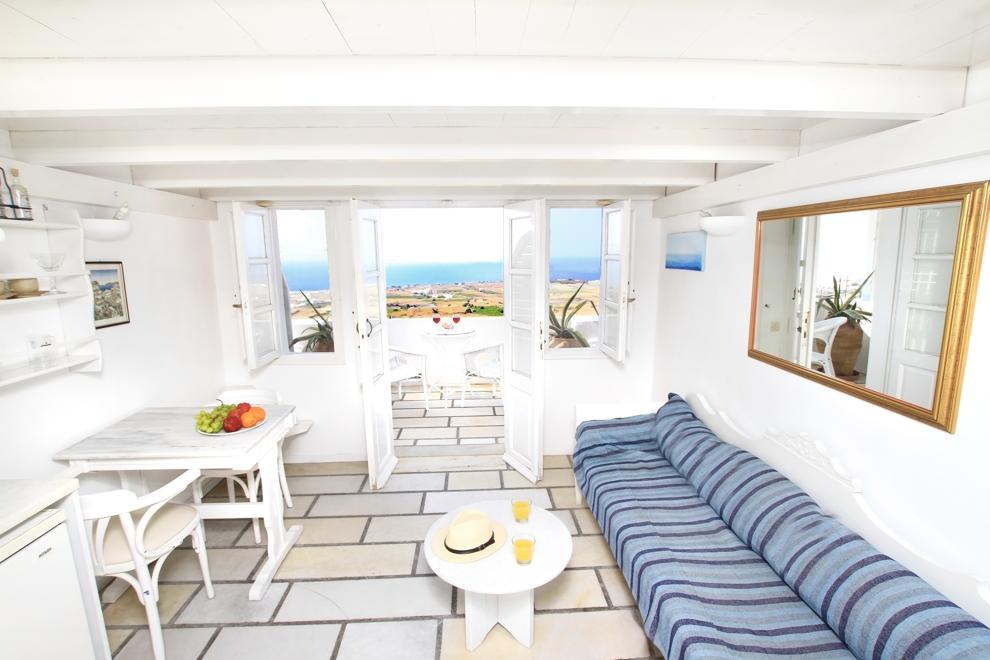White Sea View Loft Studio With Balcony
